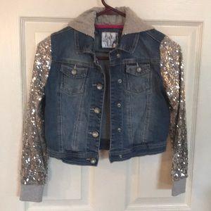 Girls sequins Jean jacket